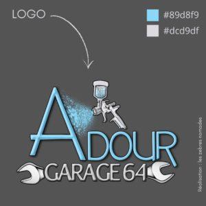 Logo AdourGarage créer par les zebres nomades