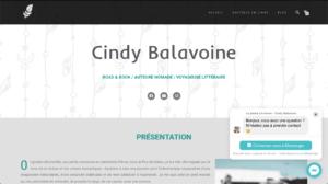 Création du site vitrine Cindy BALAVOINE - Auteure