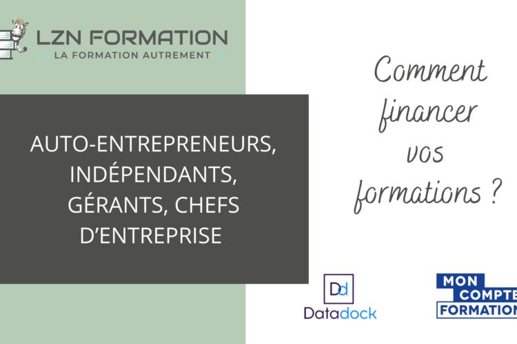 indépendants gérants auto-entrepreneurs formation