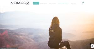 Création du site ecommerce NOMADZ - Mode et accessoires